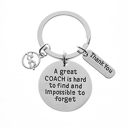 Infinity Collection Swim Coach Keychain, Swimming Coach Gifts, Great Coach is Hard to Find Coach Keychain