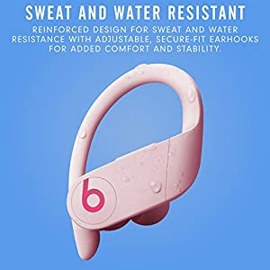 Powerbeats Pro Wireless Earbuds - Apple H1 Headphone Chip, Class 1 Bluetooth Headphones, 9 Hours of Listening Time, Sweat Resistant, Built-in Microphone - Cloud Pink
