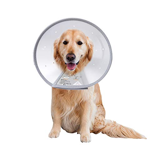 """ABIVFWE Dog Cone Adjustable Recovery Neck Cone After Surgery with Air Vent for Dogs and Cats (Neck Girth3: 9""""-11.25"""")"""