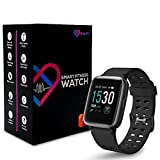 Pro-Fit Inspire Very Fit Pro Smart Watch Activity Fitness Tracker IP68 Waterproof Heart Rate Sleep Monitor Compatible with iPhone & Android Calorie Step Counter Pedometer for Men Women (ID205) (Black)