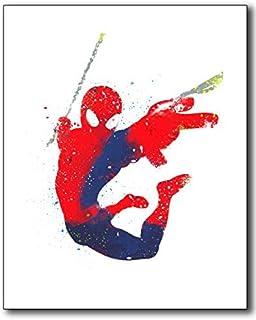 Spiderman水彩フォト印刷–Single 8x 10by Bigwig Prints