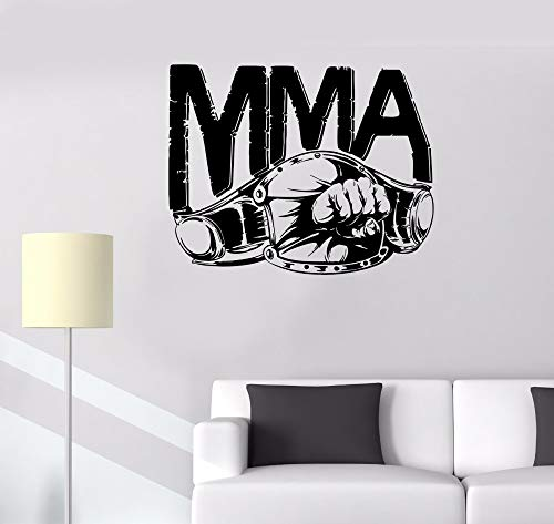 zqyjhkou Hot Sports Real Man Decoration Wall Stickers MMA Belt Fist Punch Fight Boxing Extreme Removable Vinyl Art Murals Decals 90x71cm