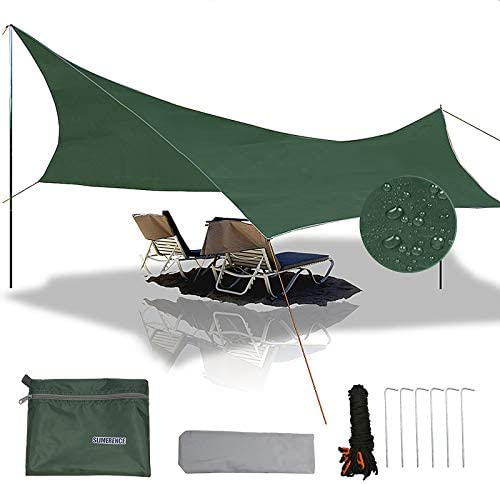 Slimerence 112 x 112 Camping Rain Cover Portable Lightweight Waterproof Camping Tent Tarp UV product image