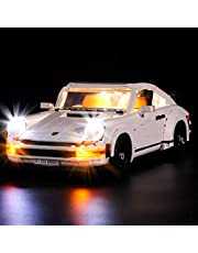 Yovso Verlichtingsset voor Lego 10295 Porsche 911 Turb, LED-verlichtingsset licht compatibel met Lego 10295 (alleen LED-verlichting, geen LEGO)