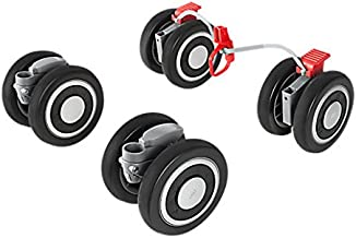 Maclaren Techno XT Front and Rear Wheels, Black/Silver