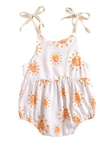 Mono sin mangas para bebés y niñas, para recién nacidos, de verano, de una pieza, ropa informal