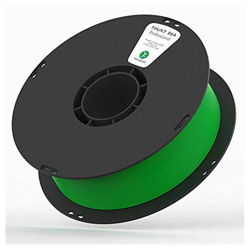3D Printing Filament, Flexible TPU K7 Soft Rubber Elastomer, Soft Wear-resistant Filament 1.75mm, 1kg (2.2lbs) for 3d Printer-Green