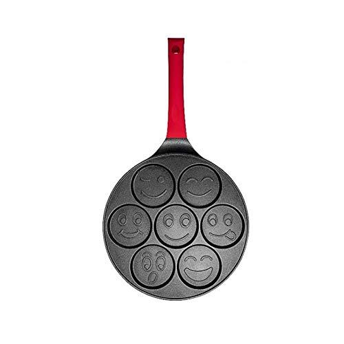 QQW Sarten para Tortitas Sarten Tortitas 7 Agujeros Animal Pancake Egg Frying Maker Pan Omelet Cooker Pan Antiadherente...