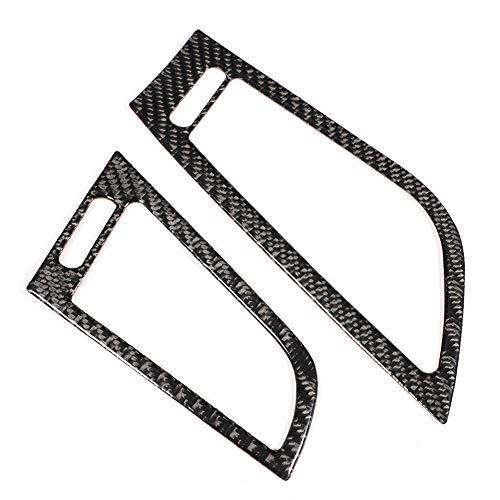 2 unids coche lado salida de aire decoración de fibra de carbono lado salida de aire Marcos pegatinas ajuste para E89 2009-2015 mano izquierda conducción negro