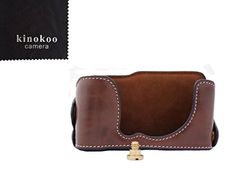 kinokoo cámara funda de piel mitad inferior caso inferior de piel sintética para Fujifilm X-M1X-A1X-A2open-able