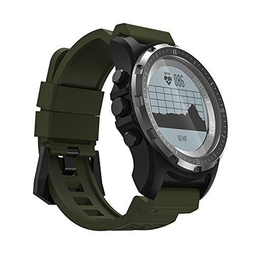 BAIYI Orologio Sportivo da Polso da Uomo GPS Smart Watch Supporto Fitness Tracker Monitor per la frequenza cardiaca Bussola pneumatica Orologio da Polso Impermeabile,B