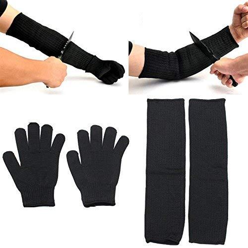 Arm Protective Sleeves, Kevlar Cut Resistant Heat Resistant Sleeve Gloves,...