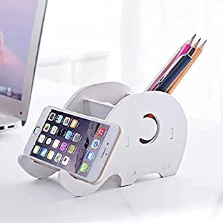 Desk Orgianiser- Pen Holder Pen Cup Holder with Phone Stand- Home Decoration Stationery Organizer with Desk Accessories