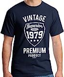 40th Birthday Gifts Cadeaux Anniversaire 40 Ans - Vintage Premium 1979 - T-Shirt...