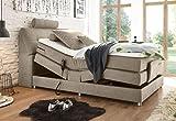Froschkönig24 Palermo 120x200 cm Boxspringbett Bett mit Motor Sand