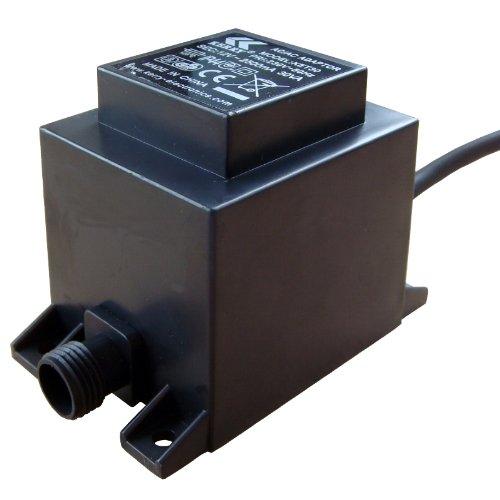 Kerry Electronics Trafo IP44 Transformator 30 VA, 12 V Volt, AC/AC Wechselstrom, 2m Kabelzuleitung, Netzgerät, 12V