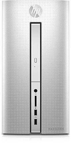 HP Pavilion (510-p159ng) Desktop PC (AMD Quad-Core A8-9600 APU, 8 GB RAM, 1 TB HDD, AMD Radeon R5-Grafikkarte, SuperMulti-DVD-Brenner mit Ultra-Slim-tray, FreeDOS 2.0) silber
