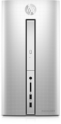 HP Pavilion (510-p159ng) Desktop PC (AMD Quad-Core A8-9600 APU, 8 GB RAM, 1 TB HDD, AMD Radeon R5-Grafikkarte, SuperMulti-DVD-Brenner mit Ultra-Slim-tray, FreeDOS 2.0) silber