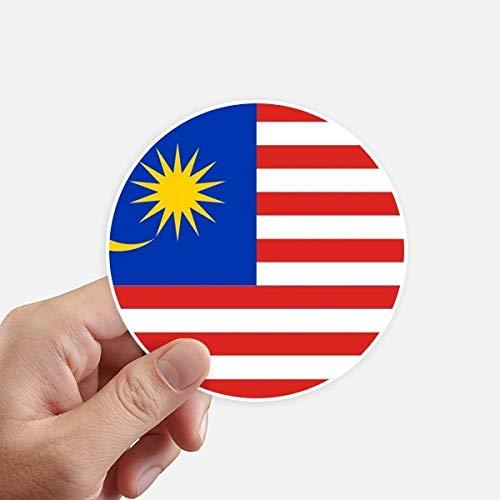 DIYthinker Malasia la Bandera Nacional de País de Asia Redondas 10cm Pared Maleta portátil Motobike Decal 8pcs Diámetro 10cm