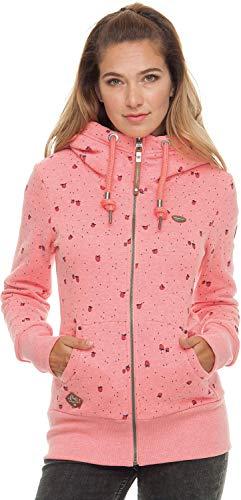 Ragwear Neska Zip Strawberries Damen Kapuzenjacke, Größe:XS, Ragwear:Coral