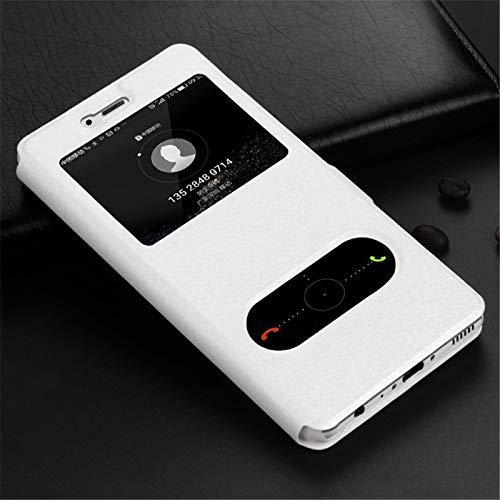 HHF Teléfono móvil Accesorios para Huawei Honor 7A 7C 6C Pro 7X 6A 9 10 P Inteligente, de Lujo Ventana de visualización Flip Case Cartera de Cuero para Huawei Honor P20 P8 P9 P10 Lite Y6 2018
