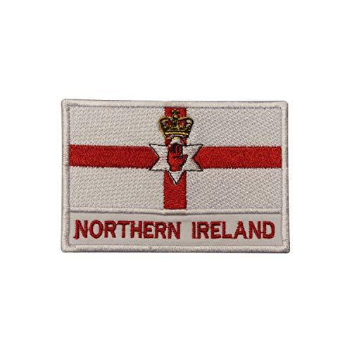 Noord-Ierland Nationale Vlag Ijzer Op Patch Naai Op Patch Geborduurde Patch/Badge voor Kleding
