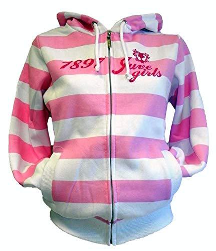 Juventus - Sudadera para mujer, color blanco y rosa