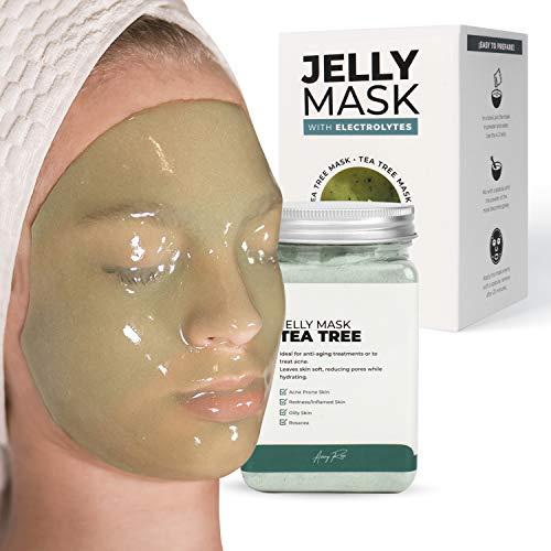 Avery Peel-Off Tea Tree Jelly Mask Jar Face Care Rubber Mask   17.6 fl oz Skin Care Moisturizing Gel Mask Jar Spa Set