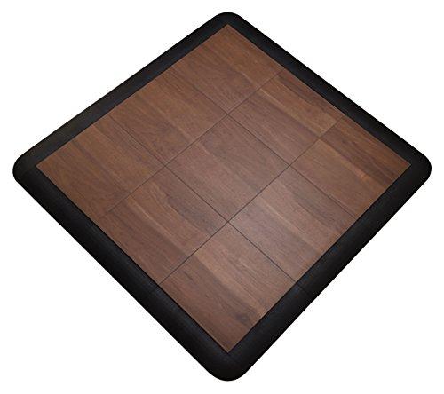 SnapFloors 3X3 Modular Dance Floor Kit (3' x 3'), 21 Piece (Dark Maple)