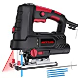 Jigsaw Tools, Meterk 800W Electric Jig Saw 6 Speeds with Laser & LED,...