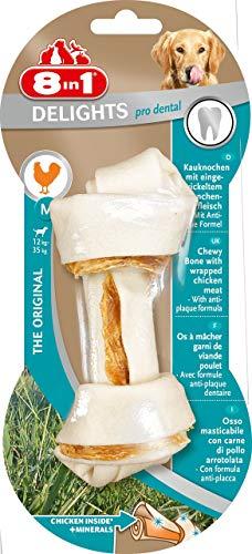 8in1 Dental Delights M - Os à Mâcher Enrichi en Minéraux pour Chien de Taille Moyenne - 1 pièce