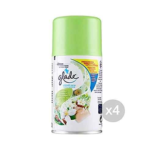 4 x GLADE Deod.Amb.Automatic Spray Ricarica Sandalo B&Gels.269Ml