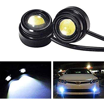 iJDMTOY High Power LED Eagle Eye Bulbs Compatible With Parking Light, Fog Lights, Xenon White