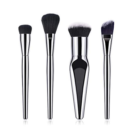 Gespout Set de Pinceaux de Maquillage Brosse de Maquillage Professionnel Fondation Concealer Eye Shadow Beauté Outils 4Pcs