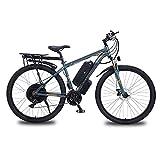 BAHAOMI Bicicleta Eléctrica 29' 21 velocidades Bicicleta de montaña eléctrica para Adultos Frenos de Doble Disco Commute Ebike Motor de 1000W E-Bike con 48V 13Ah batería de Litio extraíble,Gris