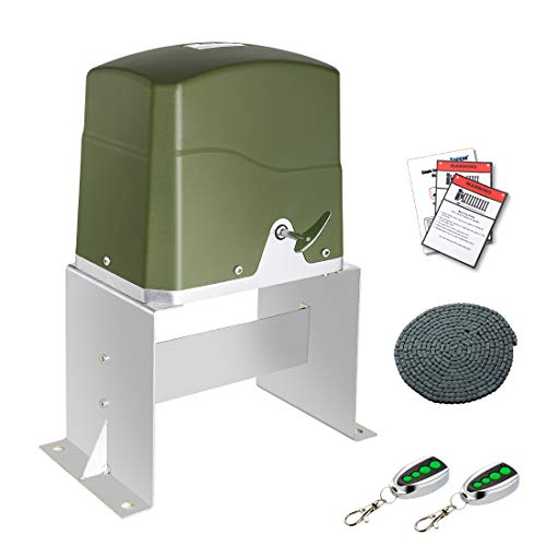 TOPENS CK700 Automatic Sliding Gate Opener Kit Sliding Gate Motor for Heavy Duty Slide Gates Up to 1600 Pounds and 40 Feet Chain Driven Driveway Security Slide Gate Operator