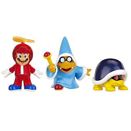 Nintendo - Figura Propeller Mario, Kamek, Buzzle Beetle, 2 cm