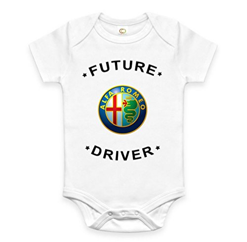 Rare New Future Alfa Romeo Driver Funny Baby Clothes Cute Unisex Bodysuit Onesie Short Sleeve Romper One Piece Prime Outfits with Sayings Body Bébé (0-3 Mois)