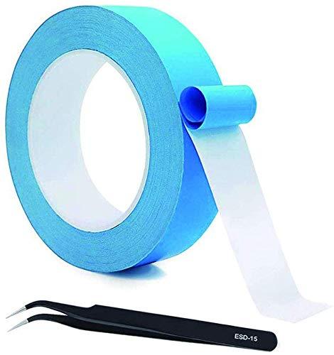 VISSQH Thermisches Klebeband leitend, doppelseitig kühlendes Band,Selbstklebend wärmeleitband,kühlendes Band für integrierte Schaltungen, Kühlkörper, Chipsatz, LED, 25m x 20mmx 0,2mm