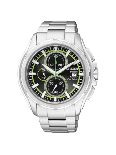 Citizen Herren-Armbanduhr XL Chronograph Edelstahl CA0270-59G