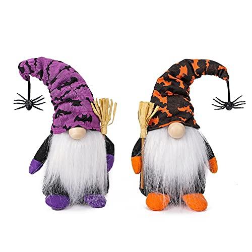 weixinbuy Decoraciones de Halloween, Sin cara, Muñeca, Muñeca, Muñeca, Araña, Pastel de murciélago, Atmósfera, Dos piezas