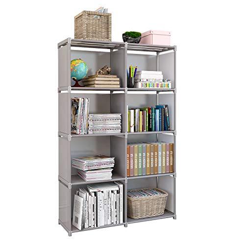 Rerii Storage Shelves Storage Cubes Bedroom Closet Standing Shelf Book Shelves for Storage Office Organization 4Tier