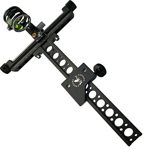 MILAEM Archery Target Compound Bow Sight Single Pin Bow Sight with 4X Lens Magnifying Glass Sight