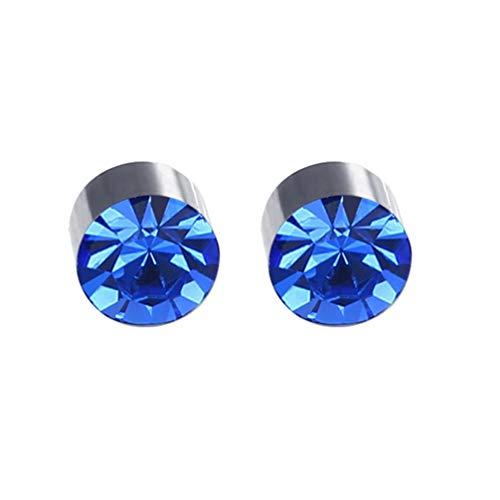Happyyami Orecchini a Bottone Magnetici Orecchini con Diamanti Rotondi Senza Orecchini con Piercing Gioielli per Donna