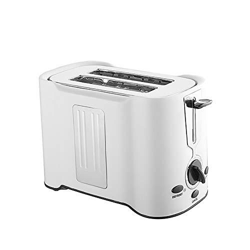 QYXM Edelstahl 2-Scheiben Toaster, Weit 2Slice Langschlitz-Toaster Heim Toaster Mit Defrost/Reheat, Kontrollleuchte Funktion Abbrechen, Herausnehmbare Krümelschublade (850W),B
