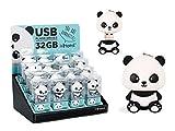 Memoria flash USB 32 GB forma Panda caja transparente