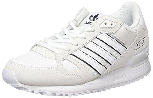 adidas ZX 750, Scarpe da Ginnastica Uomo, Bianco Ftwr White Ftwr White Core Black, 40 2/3 EU