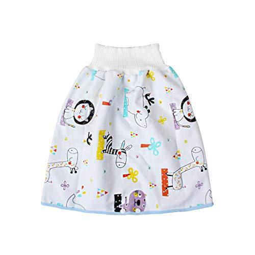 Pwtchenty baby Windelrock Bequeme Kinderwindelrock Shorts 2 in 1 wasserdichte und saugfähige Shorts Baumwolle Trainingshose mit Druckknöpfen für 0-8 Jahre Kleinkind Baby Kleinkind
