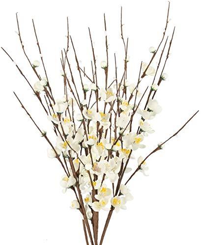 NAHUAA 4Pcs Ramas Artificiales 60cm de Flor de Cerezo Tallos de Flores...