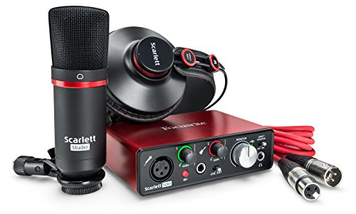 Focusrite Scarlett Solo Studio (2G) USB-Audio-Interface und Recording-Bundle mit Pro Tools, Red